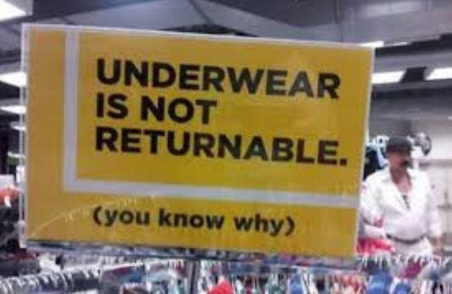 best underwear sign ever