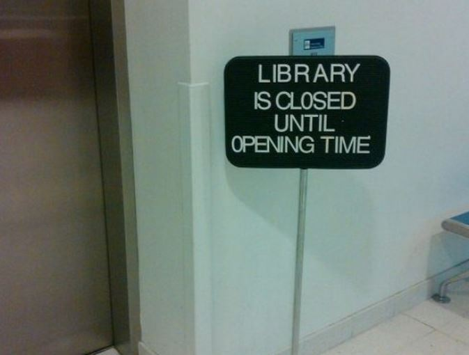 best library sign ever