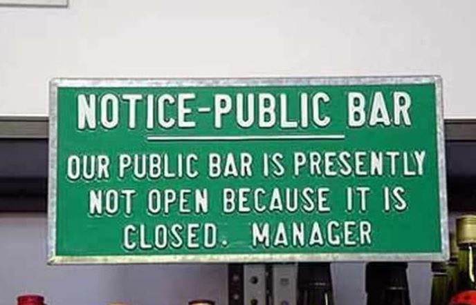 best bar sign ever