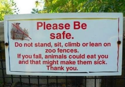 best zoo sign ever