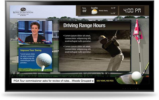 digital signage golf advertisment